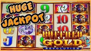 Buffalo Gold Revolution MASSIVE HANDPAY JACKPOT ️HIGH LIMIT $22.50 BONUS ROUND Slot Machine Casino