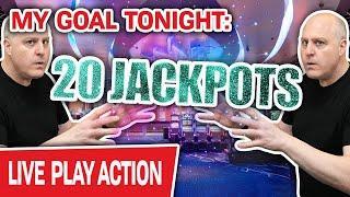ONLY Live High-Limit Slots!  My Goal Tonight: 20 JACKPOT HANDPAYS