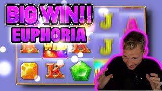 BIG WIN! EUPHORIA BIG WIN - CASINO Slot from CasinoDaddys LIVE STREAM