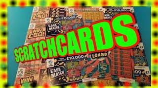 £36.00 Scratchcards..CASH DROP..CASHLINES..£250.000 GOLD..RUBY 7s Doubler..MONEY SPINNER.£100 LOADED