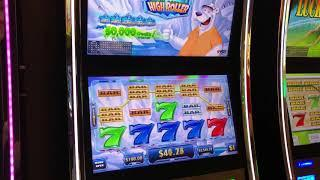VGT $14,575 Total POLAR HIGH ROLLER RED SCREENS 20 LINE STARTED & ENDED WITH HANDPAY CREDIT $100 Max