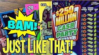 BAM!  JUST LIKE THAT  PROFIT SE$$ION on $160 TEXAS LOTTERY Scratch Offs