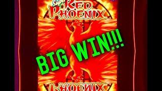 **SUPER RED PHOENIX**BIG WIN! SLOT MACHINE BONUS, LIVE PLAY! by Bally!!