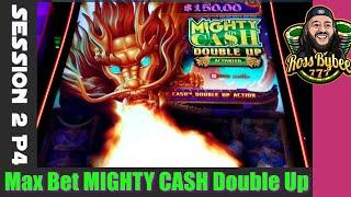MAX BET Mighty Cash Double Up Dragon BETTER THAN A JACKPOT !!