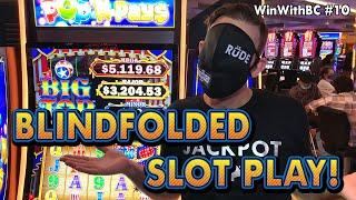Blindfolded Slot Play Challenge! How much did I win?