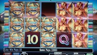 Sirens slot- $4.50 bet on nickels! AWESOME line hit!