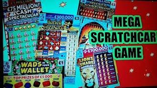 """MEGA SCRATCHCARD GAME""""MONEY KINGDOM""""CARS & CASH""""FULL £500"""
