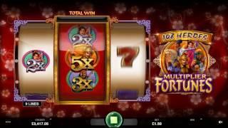 108 Heroes Multiplier Fortunes Slot - Microgaming Promo