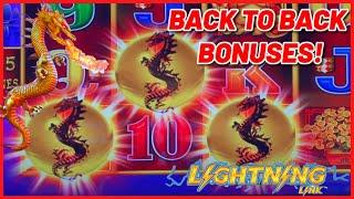 HIGH LIMIT Lightning Link Dragon's Riches ️(3) $12.50 Bonus Rounds Slot Machine Casino