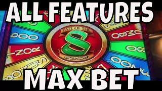FATE OF THE 8 POWER WHEEL!  MAX BET ALL FEATURES
