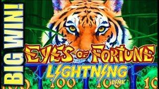 •HUGE WIN $$$ ON FREE PLAY!!• $5.00 BET - NEW EYES OF FORTUNE LIGHTNING LINK Slot Machine