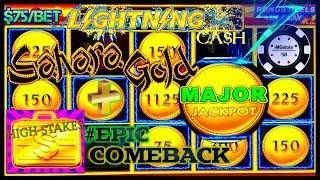 HIGH LIMIT Lightning Cash Sahara Gold HUGE MAJOR JACKPOT HANDPAY ️HIGH STAKES EPIC COMEBACK HANDPAY
