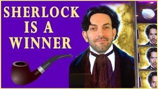 Sherlock is a Winner!  SUNDAY FUNDAY  Slot Machine Pokies at San Manuel in Southern California