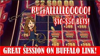 HANDPAY JACKPOT  NICE SESSION ON BUFFALO LINK AT COSMO  BETS FROM $10-$50