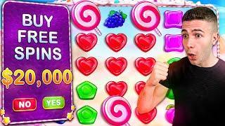 Huge $20,000 Sweet Bonanza Bonus Buys ft. @Foss - $625 HIGH-ROLL SPINS