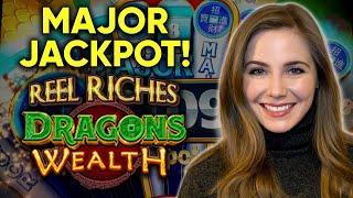 Major Jackpot! Nice Win! Reel Riches Dragon's Wealth Slot Machine!!