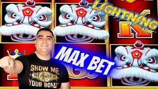 Max Bet Bonuses & Nice Wins On LIGHTNING LINK Slot! $500 Challenge To Win At Casino