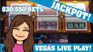 $30-$50 Bets - Double Top Dollar * JACKPOT * High Limit Live Slot Play VEGAS + NEW SLOT TO ME!