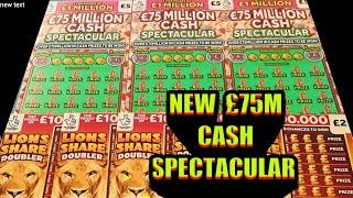 """NEW """"£75 MILLION CASH SPECTACULAR..AND LION SHARE DOUBLERS..CASHWORD MULTIPLIER.."""