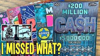 I MISSED WHAT?  $150/Tickets $50 $200 Million Ca$h  TEXAS Lottery Scratch Offs