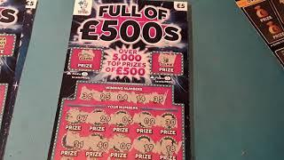 Its ..The.....Full £500s....  One Card Wonder.......and Bonus Scratchcards