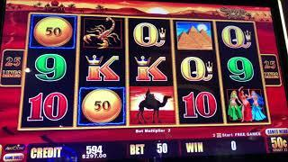 Double Top Dollar - Sahara Gold - 5 Times Pay - High Limit Slot Play
