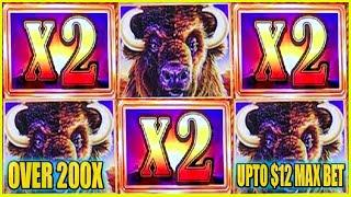 OMG! OVER 200x WIN ON BUFFALO GOLD HIGH LIMIT SLOT MACHINE COIN SHOW SUNSETS 2X 2X 2X