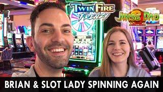 Slotlady & Brian Spinning Again!  Price Is Right For WINNING Showcase BONUS