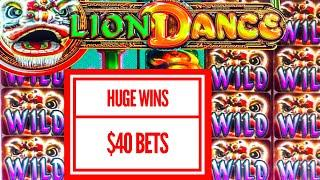 HUGE WIN~ LION DANCE SLOT~ $40 BETS