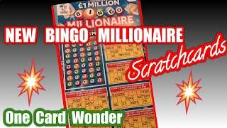 NEW..Millionaire  BINGO..new £5 Scratchcard...   One Card Wonder game