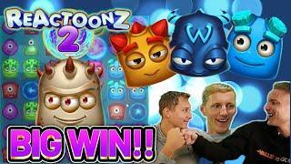 BIG WIN! REACTOONZ 2 BIG WIN - €10 BET ON CASINO Slot from CasinoDaddys LIVE STREAM