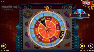 Immortal Fruits Slot - Money Wheel BIG WIN!