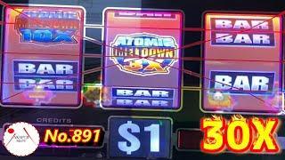 Triple Double Emeralds Wheel of Fortune Slot, Atomic Meltdown Slot, Hundred Grand Slot 赤富士スロット