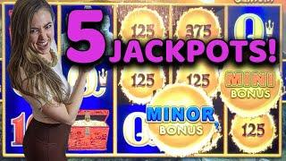 RECORD BREAKING 5 HANDPAY JACKPOTS on New Golden Century Dragon Cash Link!