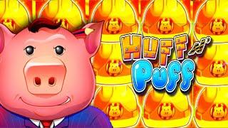 BACK TO BACK BONUSES! 2 HIGH LIMIT Huff 'N Puff Slot Machine