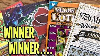 WINS!!  #001 Come Through? $30 $750 Million Winner's Circle + !  $80 in Texas Lottery Scratch Offs