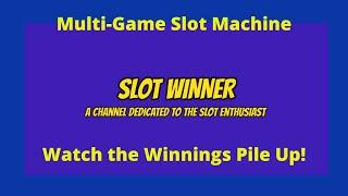 Watch the Winnings Pile up playing this Slot Machine - Multi-Game!