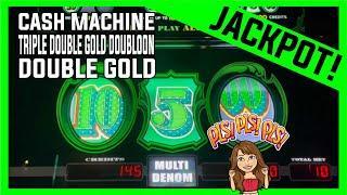 High Limit CASH MACHINE Slot Machine  TRIPLE DOUBLE GOLD DOUBLOON  HANDPAY Jackpot!