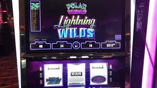 """VGT Slots """"Polar High Roller Electric Wilds""""  Red Spin Wins Choctaw Casino, Durant"""