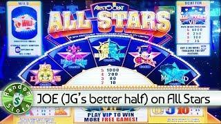 JOE (Jennifer Goodwin's better half) plays All Stars slot machine