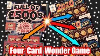4 cards wonder Game.......yes we do 4 cards tonight...mmmmmmMMM