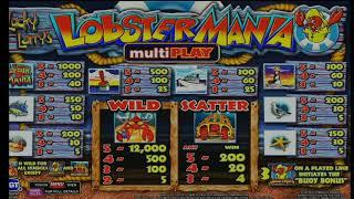 Lobstermania Multi Play High Limit Slot Play
