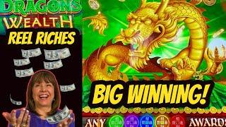 WOW! INSERT $155 and CASH OUT AT? REEL RICHES DRAGONS WEALTH