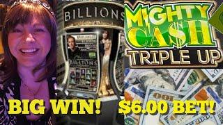 BIG WIN ON BILLIONS! MIGHTY CASH TRIPLE UP