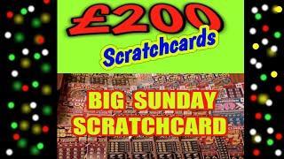 £200..BIG SUNDAY SCRATCHCARD GAME..SPIN £100.CASH VAULT.50X