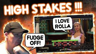 HIGH Stakes Lightning & Live Roulette Session!!