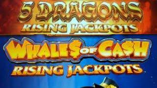 RISING JACKPOTS Whales of Cash Rising | 5 Dragons Rising (Free Spins)