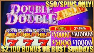 HIGH LIMIT Double Top Dollar & DOUBLE DOUBLE GOLD $50 MAX BET 3 Reel Slot Machine FOR CHRIS GRANT