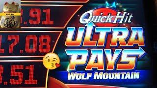 SUPERB ! QUICK HIT 50 FRIDAY #123PURE MAGIC/QH RICHES/QH ULTRA PAYS (WOLF MOUNTAIN) Slot  栗スロ