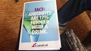 Carnival Cruise Lines Carnival Sunshine Bar Menu Drink Prices